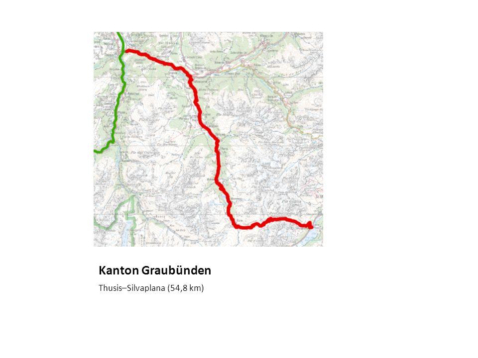 Kanton Graubünden Thusis–Silvaplana (54,8 km)