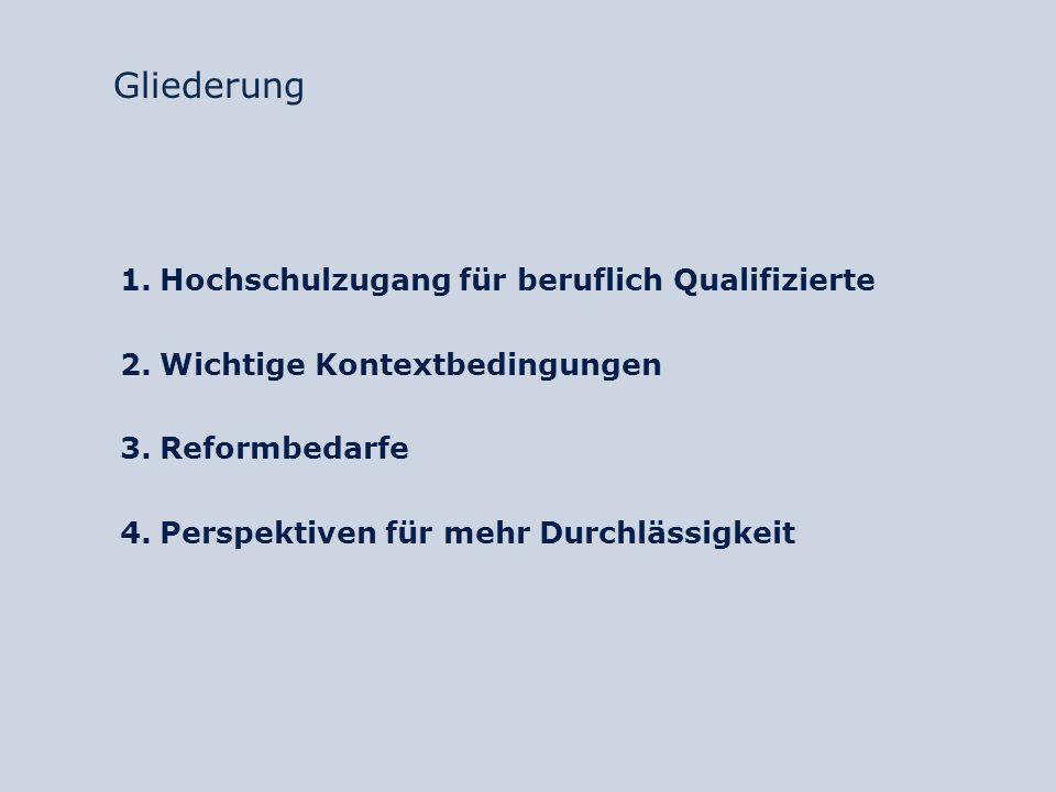 Mögliche Reformansätze Information und Beratung o Bündelung der Kompetenzen von Berufs- und Studienberatungen zur Entwicklung von zielgruppenspezifischem Informationsmaterial o Evtl.