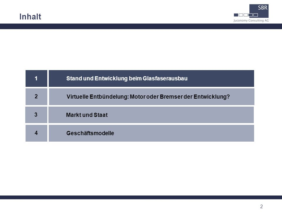 13 Inhalt Virtuelle Entbündelung: Motor oder Bremser der Entwicklung.