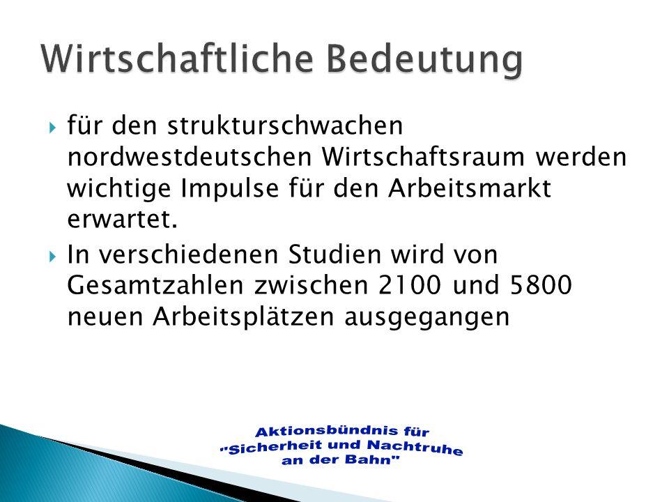 Wilhelmshaven und seine Umgebung können nur ein begrenztes Ladungsaufkommen in der Region selber generieren.