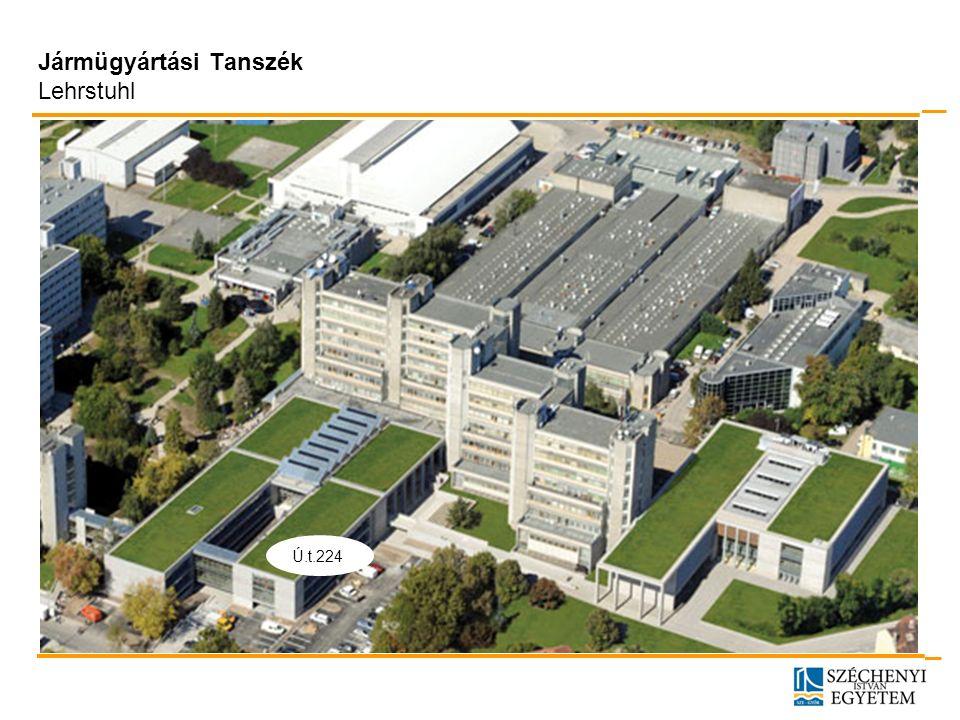 18 Dr.-Ing. Uwe Koser, 09.10.2012 Jármügyártási Tanszék Lehrstuhl Ú.t.224