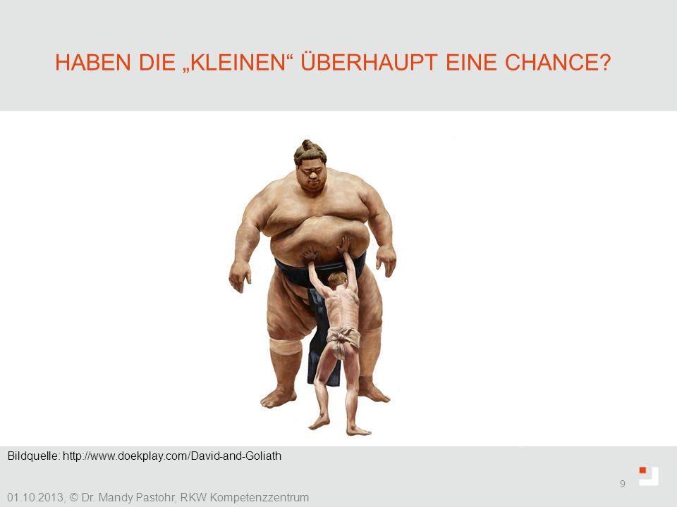 HABEN DIE KLEINEN ÜBERHAUPT EINE CHANCE? 9 01.10.2013, © Dr. Mandy Pastohr, RKW Kompetenzzentrum finanzielle Anreize, Zusatzleistungen Unternehmenskul