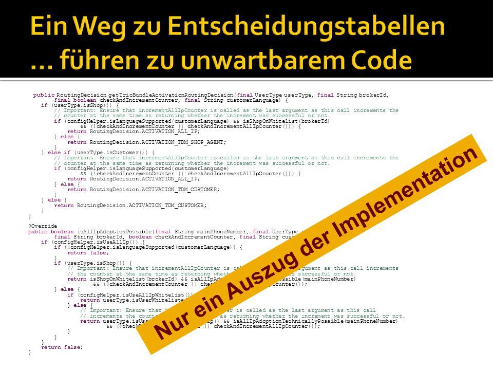Verwendung einer Rule Engine: Je nach verwendetem Tool muss der nicht unerhebliche Speicherbedarf der Rule Engine berücksichtigt werden.