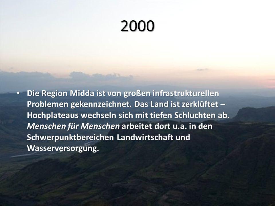 2000 Die Region Midda ist von großen infrastrukturellen Problemen gekennzeichnet. Das Land ist zerklüftet – Hochplateaus wechseln sich mit tiefen Schl