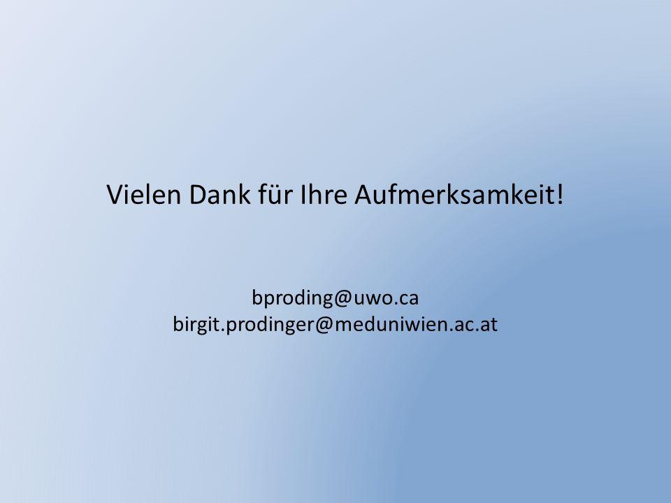 Vielen Dank für Ihre Aufmerksamkeit! bproding@uwo.ca birgit.prodinger@meduniwien.ac.at