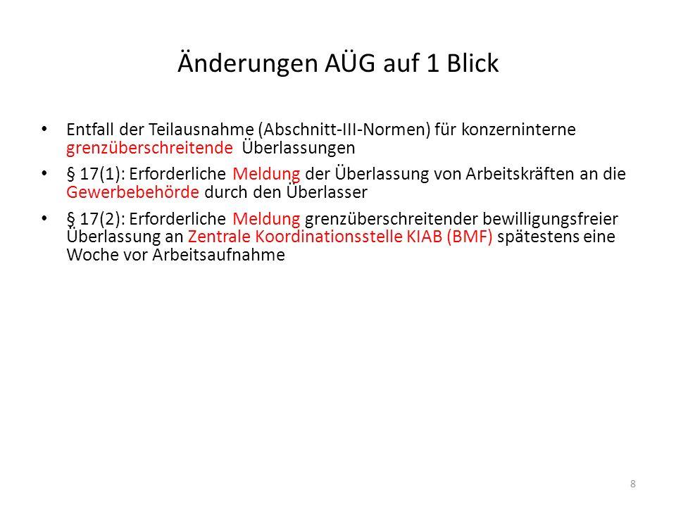 Zusammenfassung geltender Bestimmungen ab 1.5.2011 9