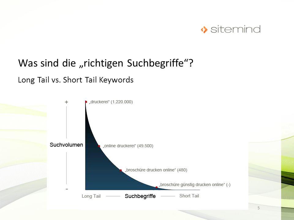 Long Tail vs. Short Tail Keywords 5 Björn Vauk, B.Eng. · sitemind medien Agentur · www.sitemind.de