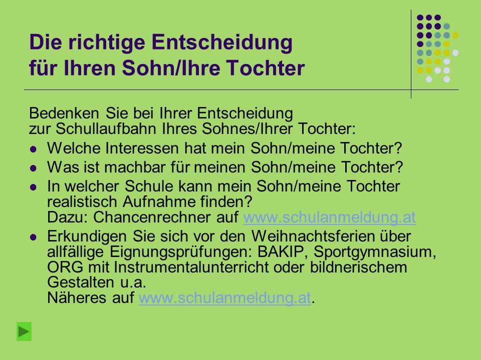 Aufnahme an weiterführenden Schulen im Schuljahr 2012/13 Nach der 4.