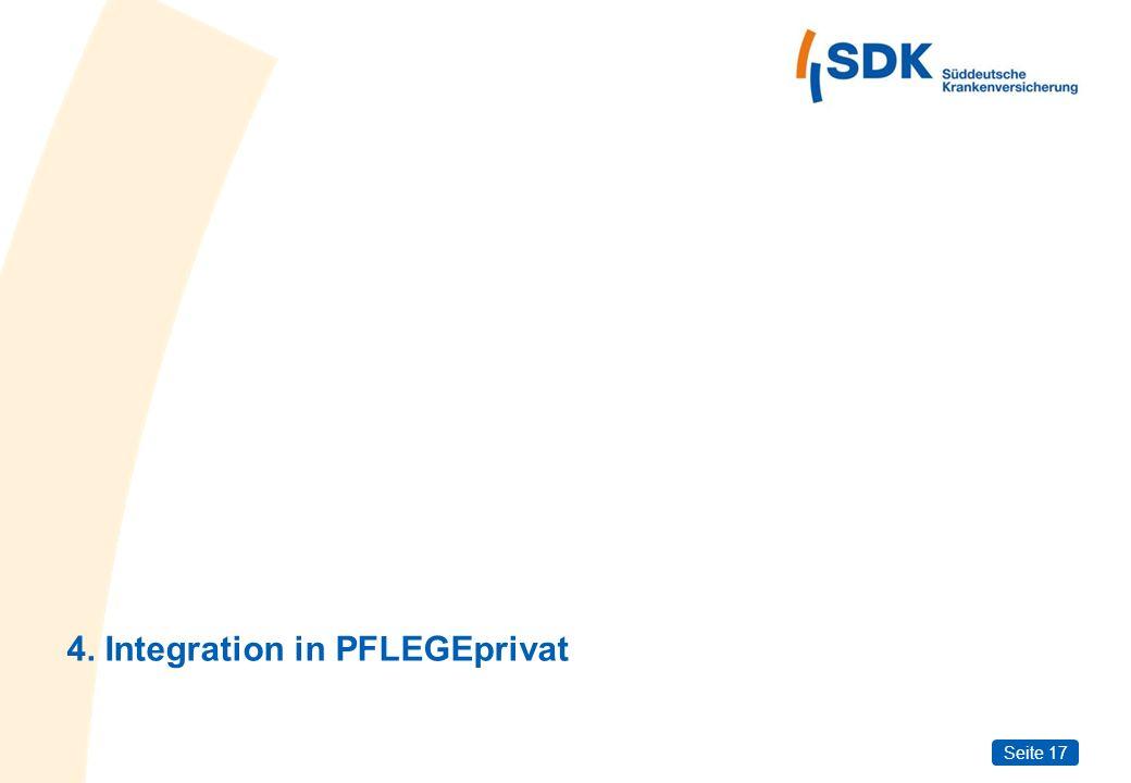 Seite 17 4. Integration in PFLEGEprivat