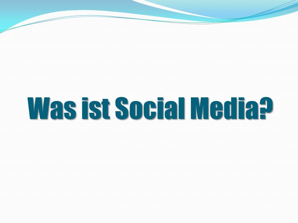 Social Media ist… eine Beschreibung aller medialen Dienstleistungen im Internet, deren Inhalt der User aktiv mitgestalten kann.