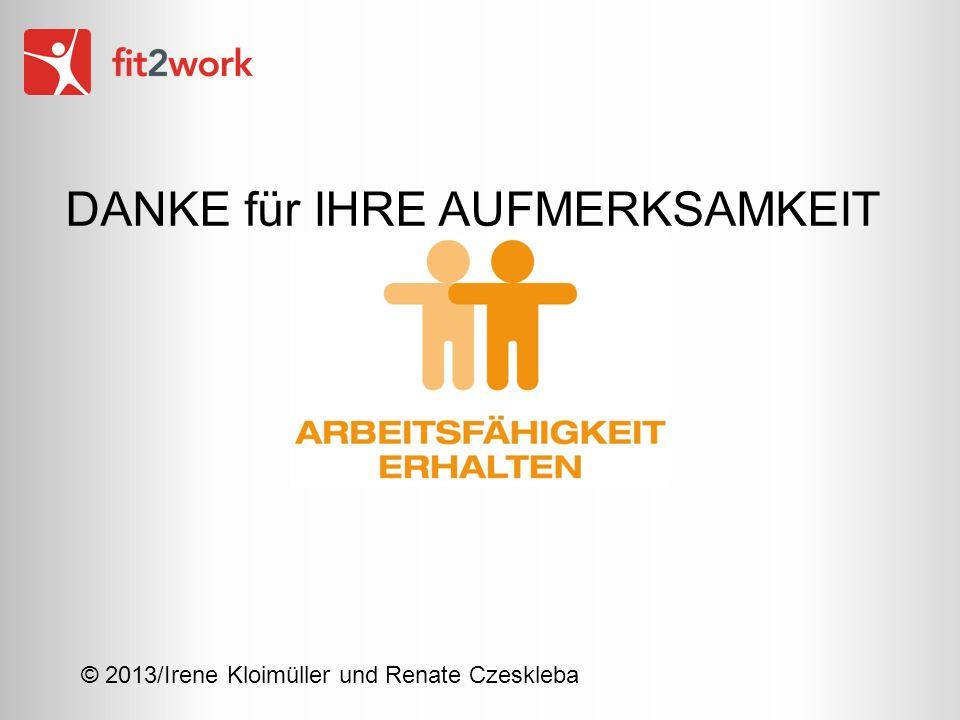 © 2013/Irene Kloimüller und Renate Czeskleba DANKE für IHRE AUFMERKSAMKEIT