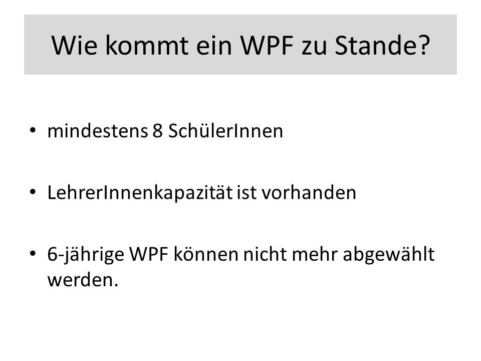Wie kommt ein WPF zu Stande.