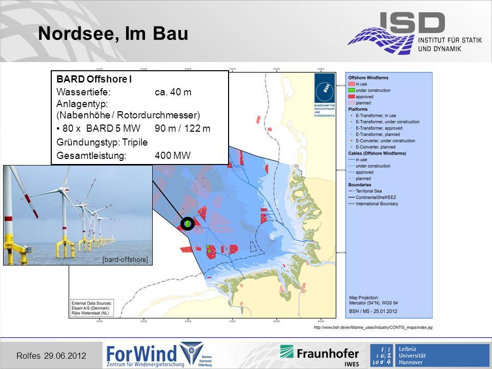 Nordsee, Im Bau Rolfes 29.06.2012 BARD Offshore I Wassertiefe:ca.