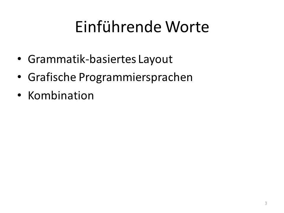 Einführende Worte Grammatik-basiertes Layout Grafische Programmiersprachen Kombination 3