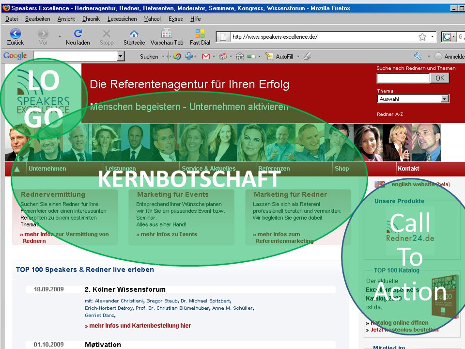 LO GO KERNBOTSCHAFT Call To Action