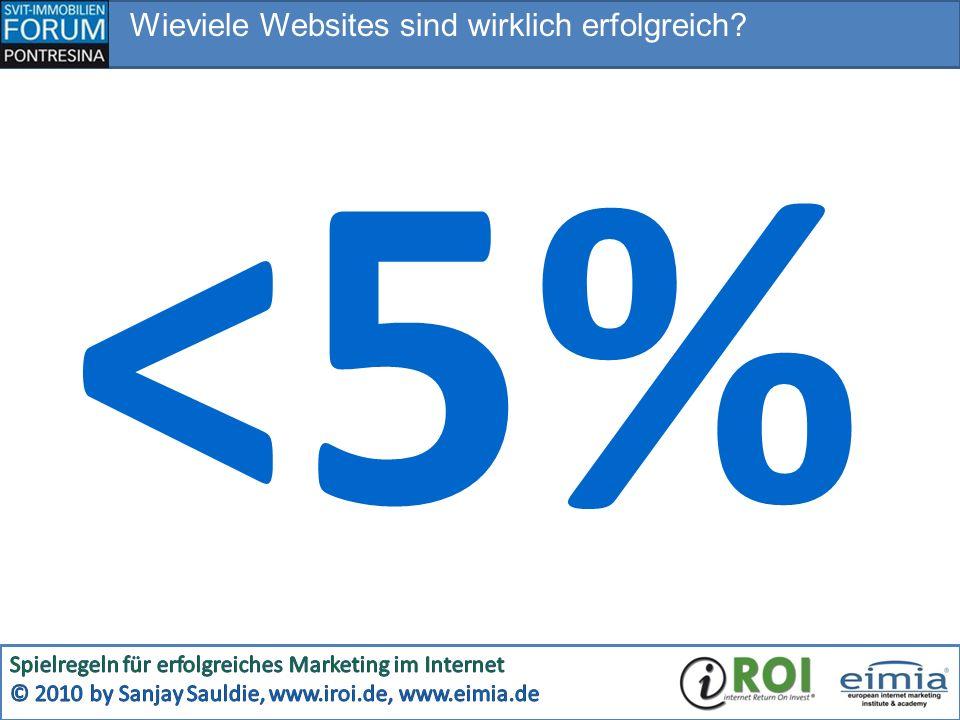 Wieviele Websites sind wirklich erfolgreich? <5%