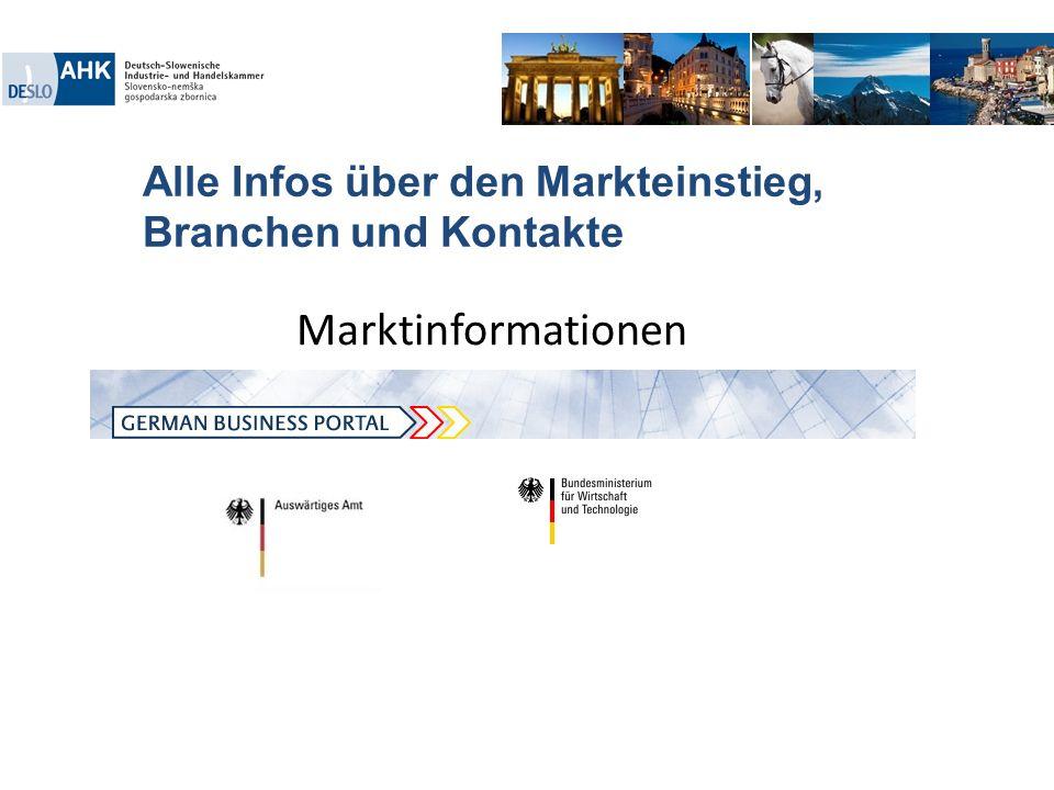 Alle Infos über den Markteinstieg, Branchen und Kontakte. Marktinformationen