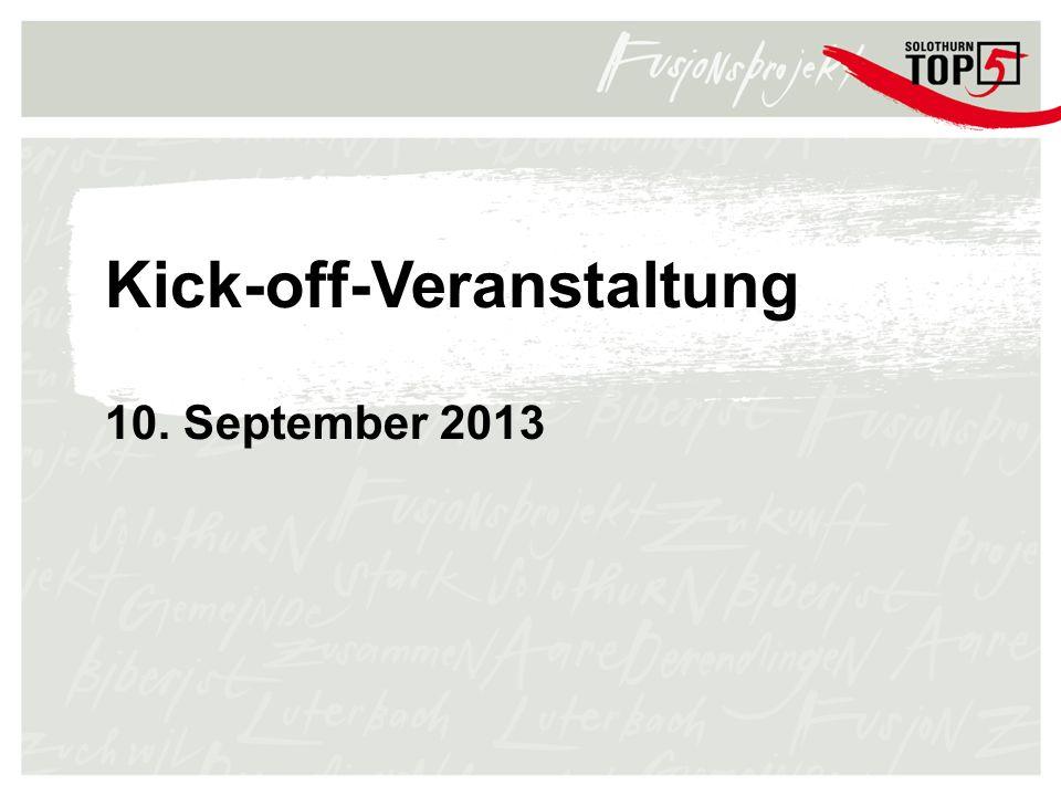 Kick-off-Veranstaltung 10. September 2013