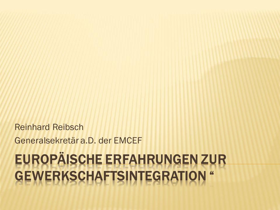 Reinhard Reibsch Generalsekretär a.D. der EMCEF