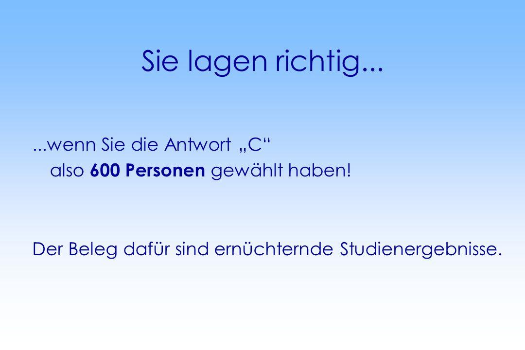 Nach bundesweiten Schätzungen sind 5% aller Mitarbeiter/innen in einem Unternehmen alkoholabhängig (Deutsche Hauptstelle für Suchtfragen, DHS).