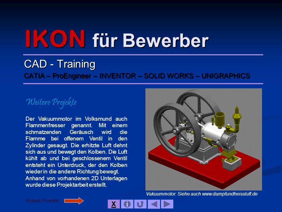 IKON für Bewerber IKON Mitarbeiter im Einsatz Aufgaben bei IKON Produktentwicklung im Kunststoffbereich, Konstruktion von Sonderladungsträgern für die Automobilindustrie, Werkzeugbau, Vorrichtungsbau.