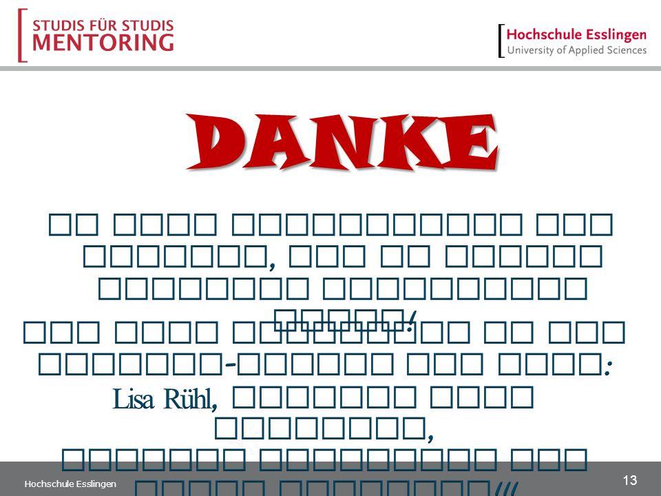 13 Hochschule Esslingen DANKE