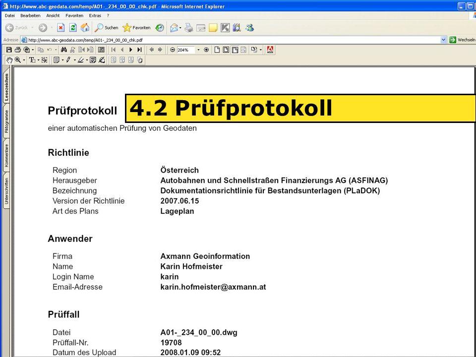 04.06.2008H. Grottenegg17 4.2 Prüfprotokoll