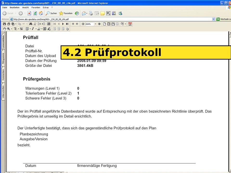 04.06.2008H. Grottenegg18 4.2 Prüfprotokoll