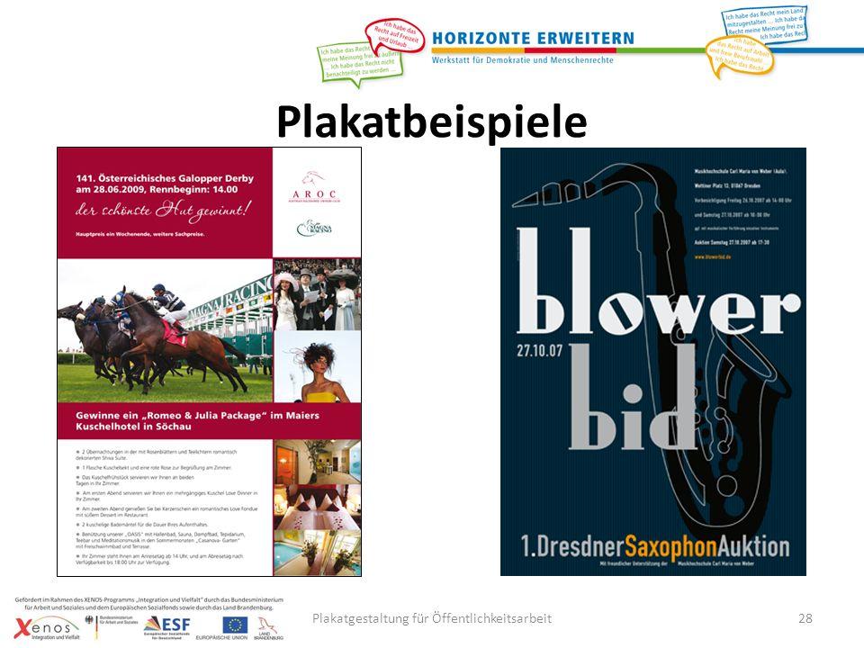 Plakatgestaltung für Öffentlichkeitsarbeit28 Plakatbeispiele