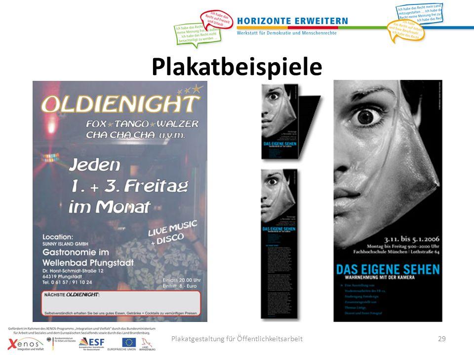 Plakatgestaltung für Öffentlichkeitsarbeit29 Plakatbeispiele