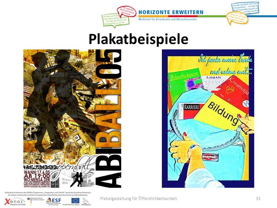 Plakatgestaltung für Öffentlichkeitsarbeit31 Plakatbeispiele