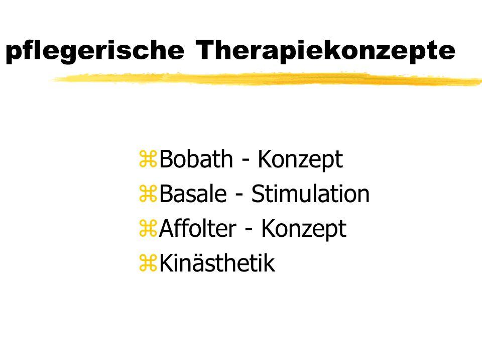 pflegerische Therapiekonzepte zBobath - Konzept zBasale - Stimulation zAffolter - Konzept zKinästhetik