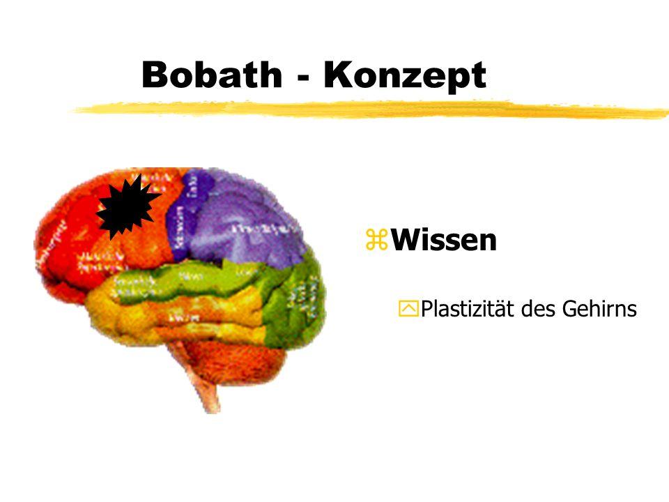 Bobath - Konzept z Lagerung ySitzen im Bett xTonusregulation xFunktionsanbahnung ( Input ) xBewußtmachung der betroffenen Seite xAnregung des Interesses für die Umwelt und den eigenen Körper