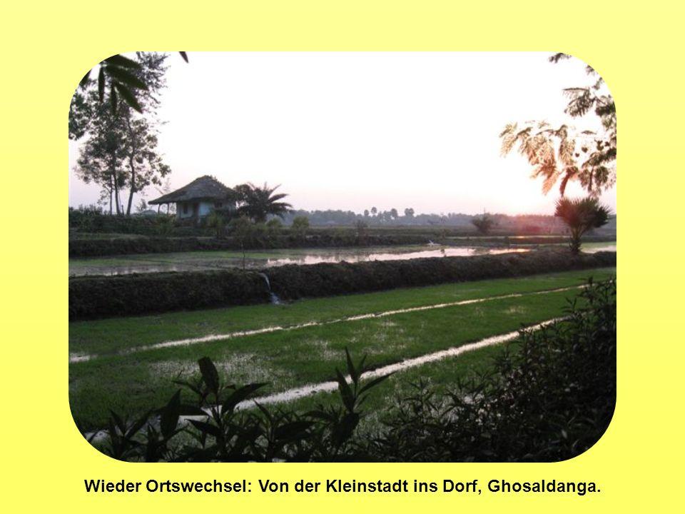 Wieder Ortswechsel: Von der Kleinstadt ins Dorf, Ghosaldanga.