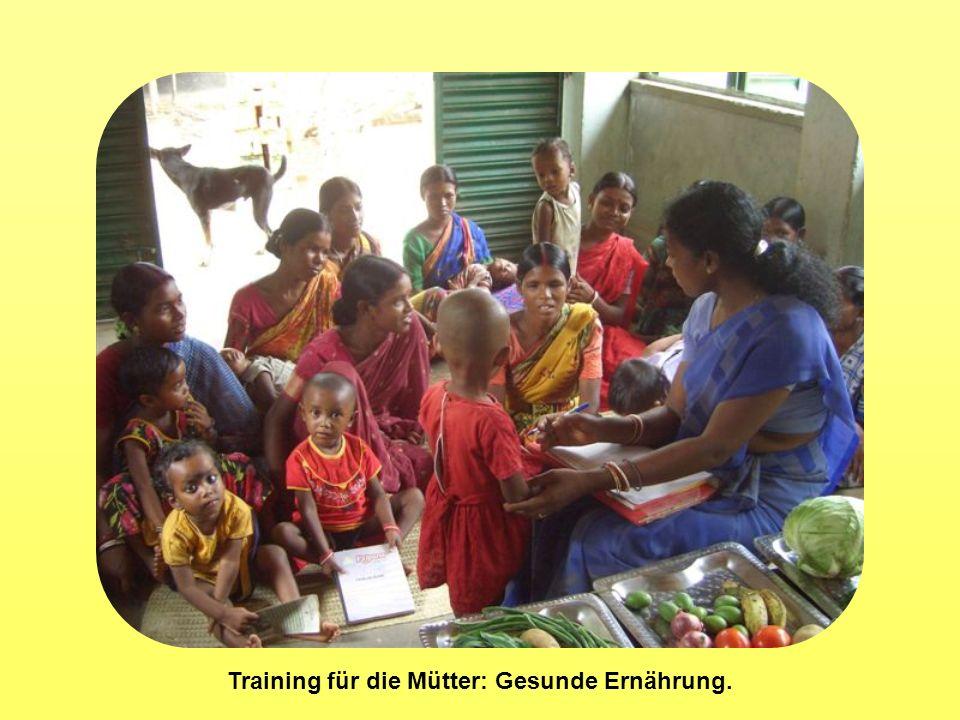 Training für die Mütter: Gesunde Ernährung.