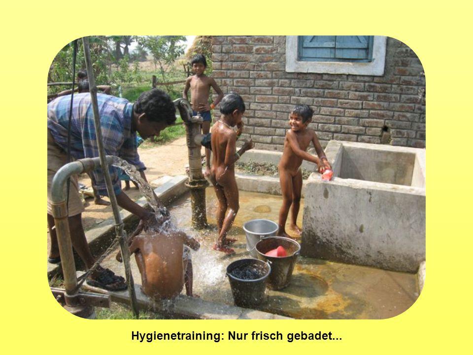 Hygienetraining: Nur frisch gebadet...