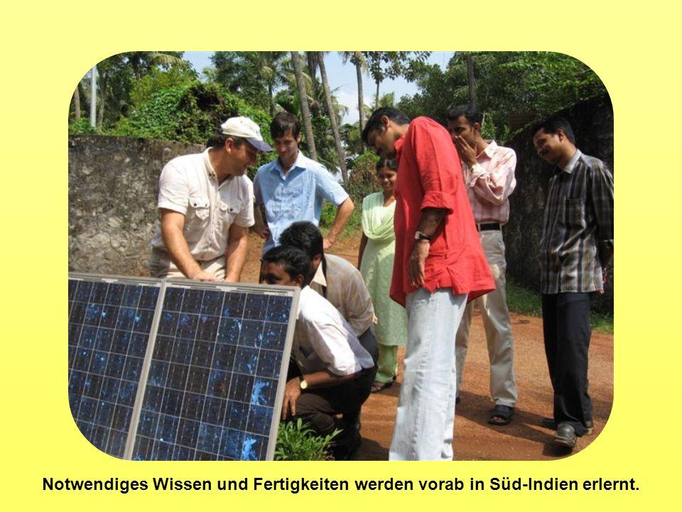 Notwendiges Wissen und Fertigkeiten werden vorab in Süd-Indien erlernt.