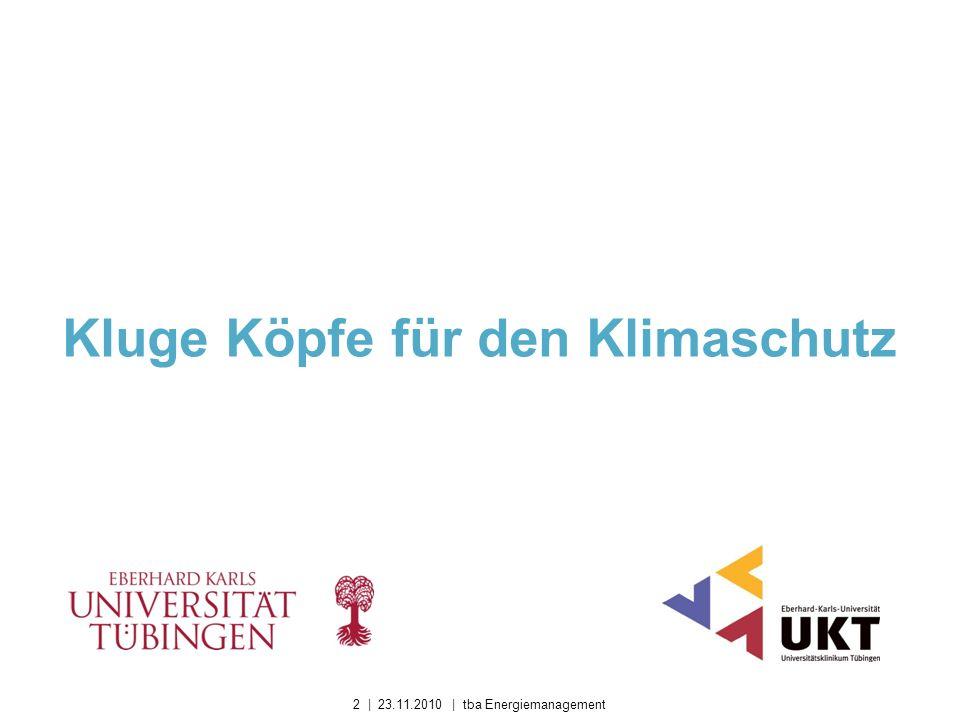 Kluge Köpfe für den Klimaschutz 2 | 23.11.2010 | tba Energiemanagement