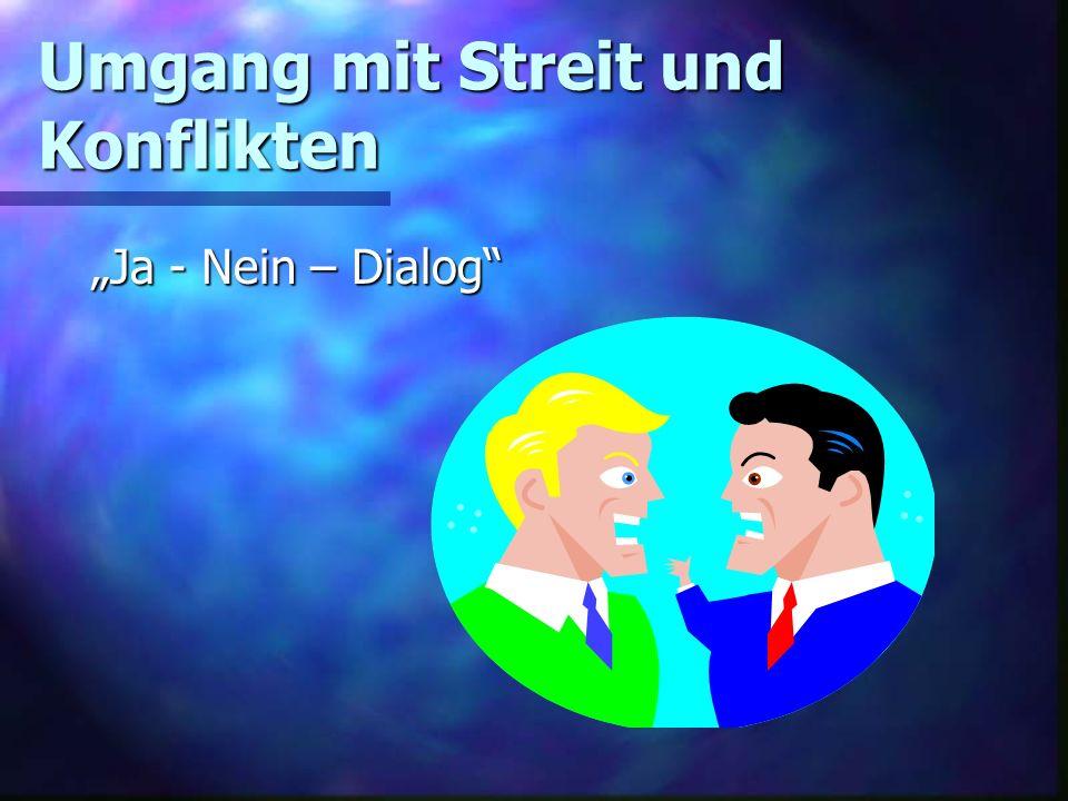 Umgang mit Streit und Konflikten Ja - Nein – Dialog