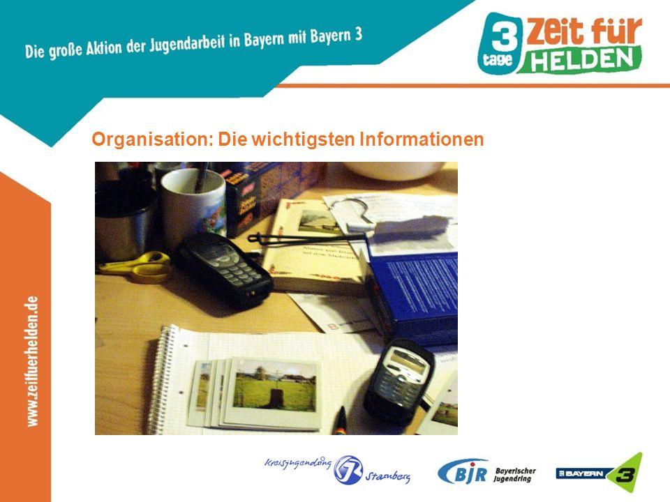 Organisation: Die wichtigsten Informationen