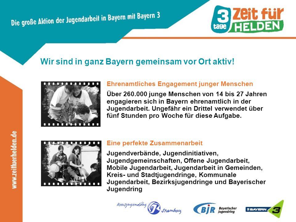 Wir sind in ganz Bayern gemeinsam vor Ort aktiv.