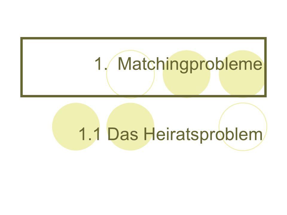 1.Matchingprobleme 1.1 Das Heiratsproblem