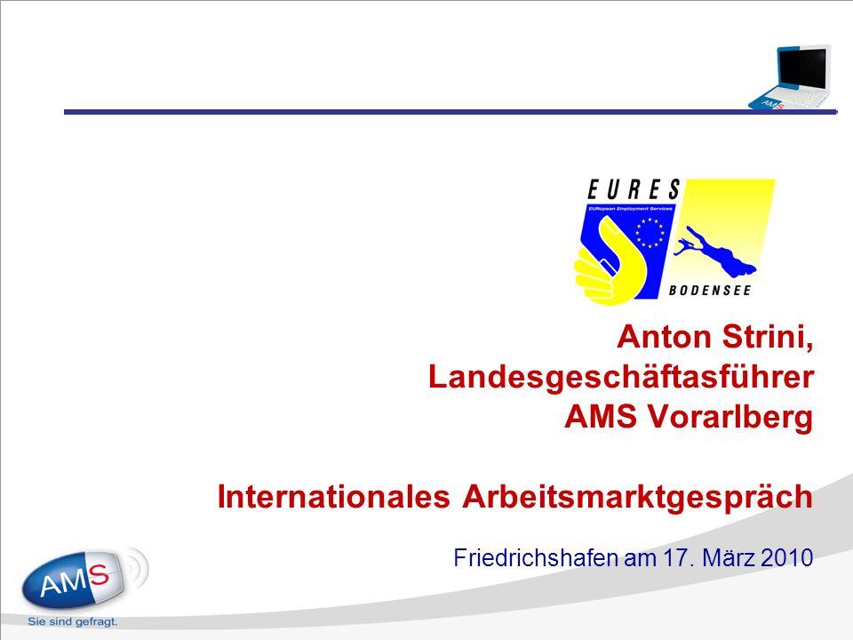 Anton Strini, Landesgeschäftasführer AMS Vorarlberg Internationales Arbeitsmarktgespräch Friedrichshafen am 17.