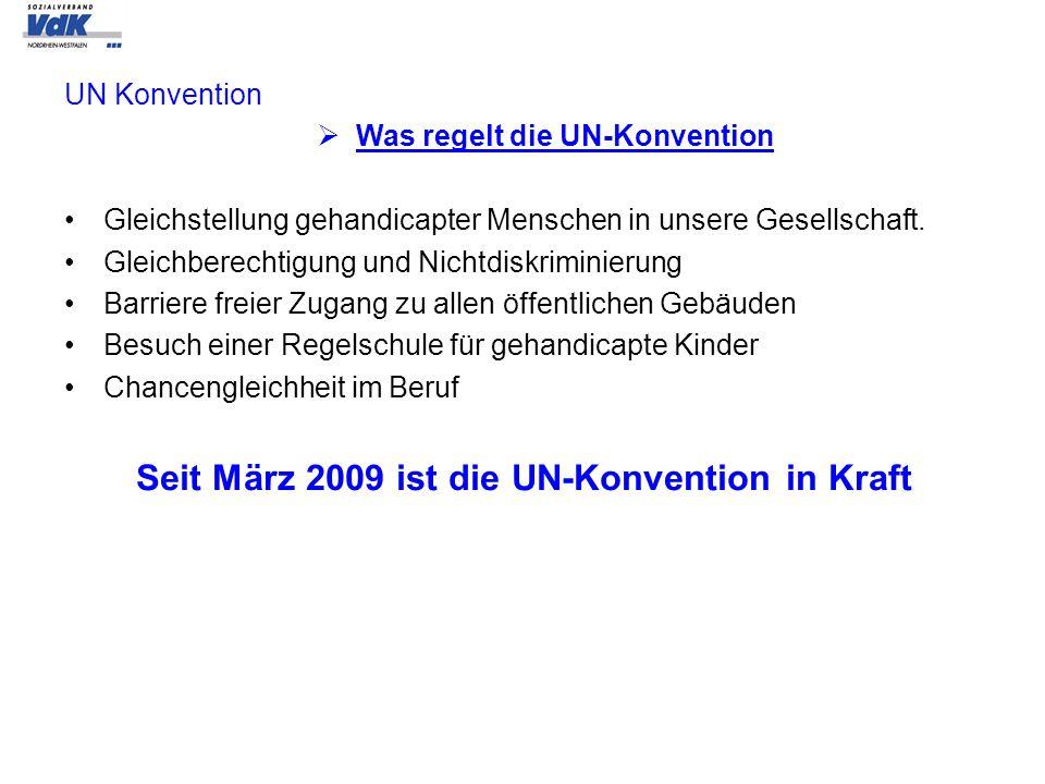 UN Konvention Was regelt die UN-Konvention Gleichstellung gehandicapter Menschen in unsere Gesellschaft. Gleichberechtigung und Nichtdiskriminierung B