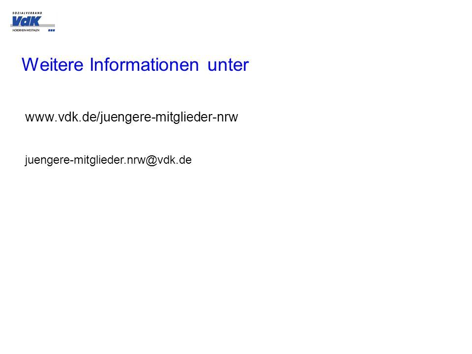 www.vdk.de/juengere-mitglieder-nrw Weitere Informationen unter juengere-mitglieder.nrw@vdk.de