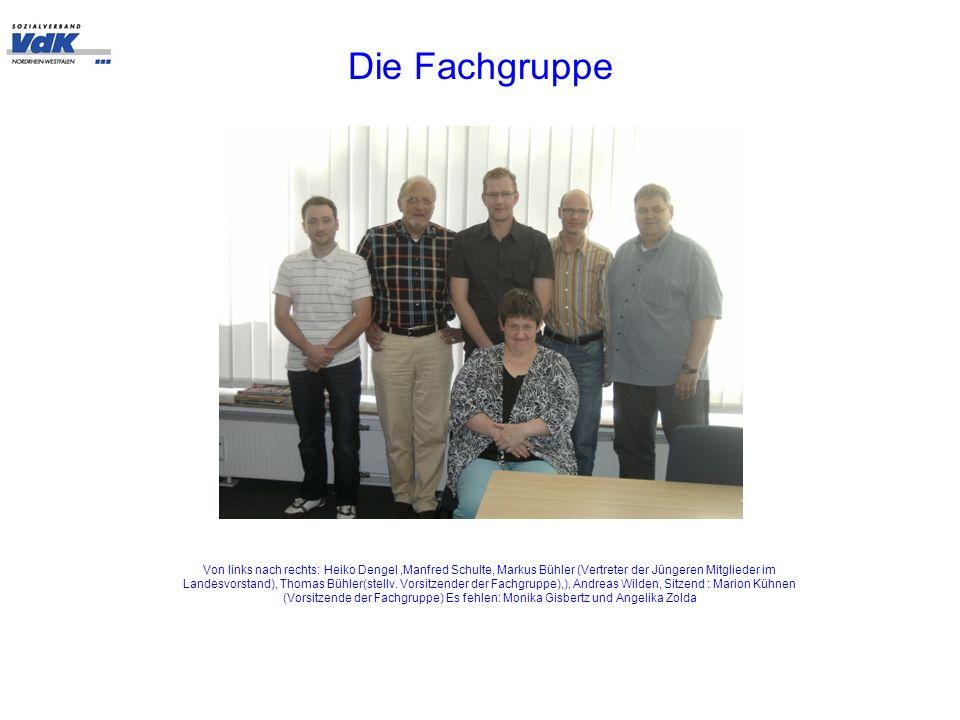 Die Fachgruppe Von links nach rechts: Heiko Dengel,Manfred Schulte, Markus Bühler (Vertreter der Jüngeren Mitglieder im Landesvorstand), Thomas Bühler