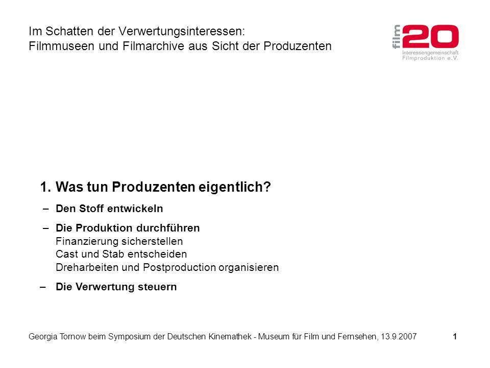 1.Was tun Produzenten eigentlich.