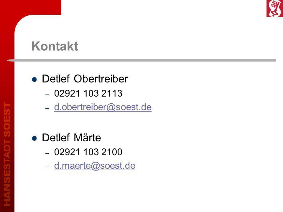 Kontakt Detlef Obertreiber – 02921 103 2113 – d.obertreiber@soest.de d.obertreiber@soest.de Detlef Märte – 02921 103 2100 – d.maerte@soest.de d.maerte@soest.de