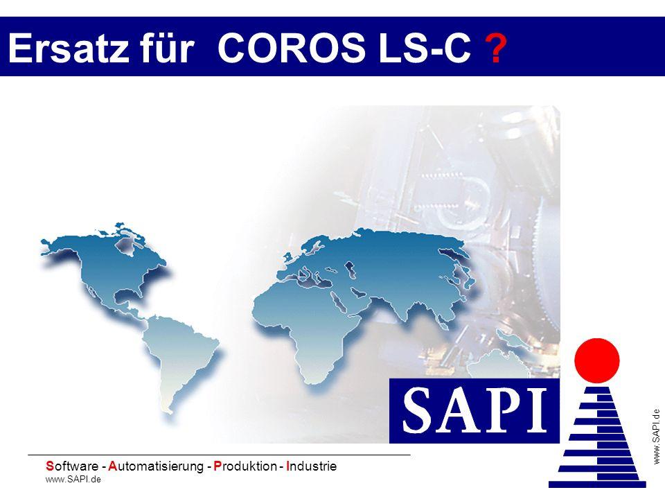 20 Software - Automatisierung - Produktion - Industrie www.SAPI.de Ersatz für COROS LS-C ?