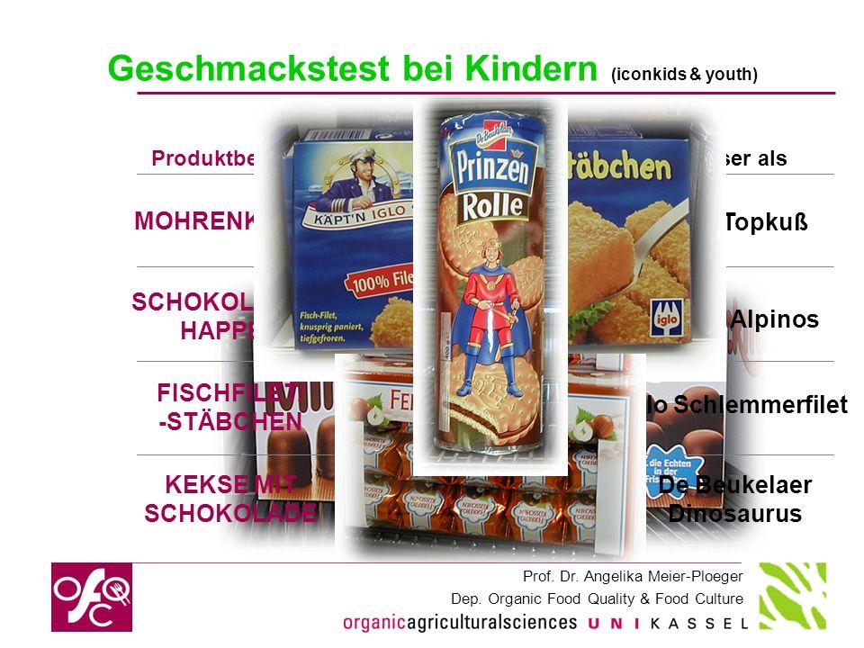 Prof. Dr. Angelika Meier-Ploeger Dep. Organic Food Quality & Food Culture FISCHFILET/ -STÄBCHEN Käptn Iglo Die weißen Fischstäbchen Iglo Schlemmerfile